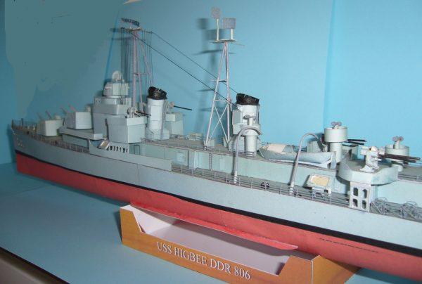 1/200 Gearing Class Destroyer USS Higbee DDR 806 Paper Model