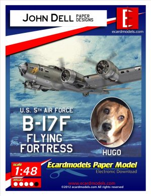 1/48 Boeing B-17F Flying Fortress - HUGOs Pluto II - Paper Model