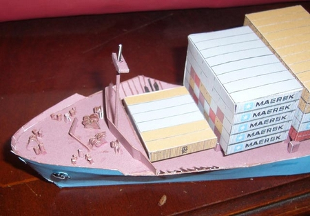 Maersk Sea-Land Express Deep Water Container Ship Paper Model