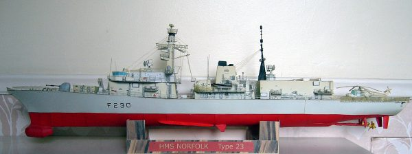 1/200 HMS Norfolk Royal NavyType 23 Frigate