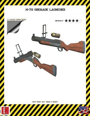 1/1 M-79 Grenade Launcher Paper Model